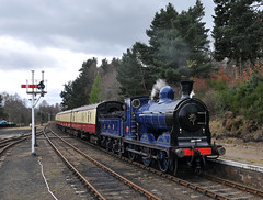 Caledonian Railway No. 828 at Boat of Garten (SC-Fifer) Tags: caley caledonianrailway caley828 boatofgatrten strathspeyrailway 060 no828 scottishsteam diningtrain caleyblue steamlocomotive