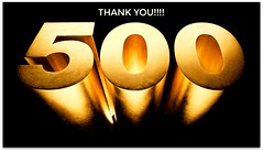 Some thank you words (Moni Carissa) Tags: milestone 500 followers blogging
