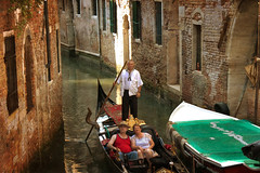 once in a life II (j.p.yef) Tags: peterfey jpyef venice gondel gondola canal people man woman yef italy photomanipulation bestportraitsaoi