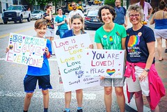 The voices from the future continue to be the best ones. #baltimorepride @pflagnational @metrodcpflag #activetransportation #instapride ❤️️🌈🌎