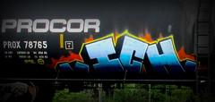 ICH YME (timetomakethepasta) Tags: ich ichabod yme 63 freight train graffiti art procor tanker benching selkirk new york photography prox