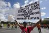 """Parlamentares da oposição protestam no ato """"Ocupa Brasília"""""""