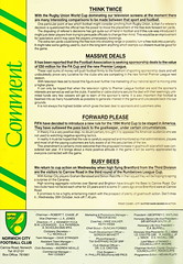 Norwich City vs Luton Town - 1991 - Page 2 (The Sky Strikers) Tags: norwich city luton town barclays league division one carrow road official matchday programme pound twenty