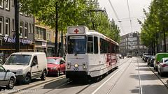 "Rode Kruis 3001 (Ex GVB 767) ""De Red Crosser"" (8G) ([Publicer Transport] Ricardo Diepgrond) Tags: gvb rode kruis de red crosser tram 3001 8g lhb 767 ex molukkenstraat indische buurt amsterdam"