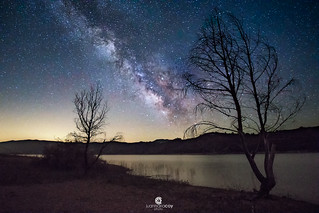 Milky Way over the Talave swamp - Hellín, Lietor (Albacete, Spain)