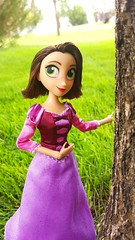 World's most overdramatic haircut (ozthegreatandpowerful) Tags: tangled series theseries beforeeverafter rapunzel doll reroot brunette brown hair disney store before ever after