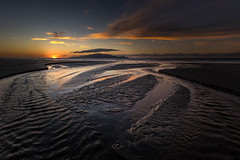 Stream at Peka Peka Beach (Jos Buurmans) Tags: beach black coastallandscape coastline evening kapiticoast kapitiisland landscape nature newzealand northisland pekapeka pekapekabeach sea seascape stream sunset tasmansea wellington nz