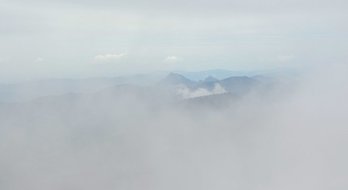 Alps in clouds