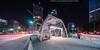 Gateway Station (20170527-DSC02383-Edit) (Michael.Lee.Pics.NYC) Tags: pittsburgh downtown gatewaystation t publictransportation ppgplace stanwixstreet pennavenue fortpittbridge night longexposure lighttrail traffictrail architecture cityscape sony a7rm2 voigtlanderheliar10mmf56