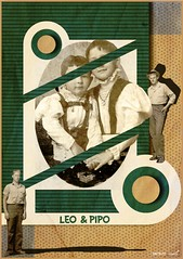 Leo & Pipo, by Yessine Ouerghemmi (Leo & Pipo) Tags: leopipo leoetpipo paris street art artwork collage portrait imaginary handmade analog cut paste paper retro vintage mixed media illustration graphic design france dada surreal yessine ouerghemmi kids