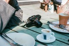 M6 (gothick_matt) Tags: culture leica leicam6 yashicaelectro35 cafe table coffee film ektar100