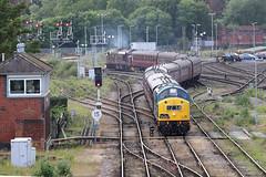40145 English Electric Class 40 locomotive (Roger Wasley) Tags: 40145 english electric class 40 37516 wcrc the east lancs enterprise tour shrewsbury trains railways gb uk britain british west coast railway company shropshire 37 railwayherald