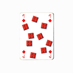 nine of diamonds (brescia, italy) (bloodybee) Tags: 365project playingcards cards play game 9 nine diamonds lego toy bricks stilllife red white square