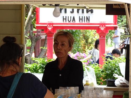 Woman Vendor at Train Station - Hua Hin - Thailand