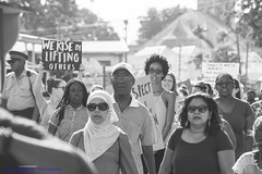 We Rise By Lifting Others (Nicky Highlander Photography) Tags: barbados barbadian bridgetown capitalcity capital caribbean westindies lifestyle documentary lifeinleggings protest demonstration streets streetphotography reclaimourstreets blackandwhite sign signs photoessay candid womens solidarity march against gender based violence misogyny social justice causes people outdoor women men unity