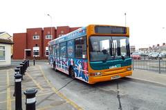 T144DAX-01 (Ian R. Simpson) Tags: t144dax dennis dartslf plaxton pointer2 cardiffbus cardiff dominospizza dominos advert catch22bus catch22 bus 144
