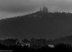 Clouded Basilica of Superga, in Turin. ((Paolo P)) Tags: landscape clouds blackandwhite italy hills turin badweather basilicaofsuperga superga paesaggio bruttotempo torino colline italia biancoenero nuvole basilicadisuperga
