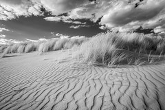 Holkham, Norfolk (Justin Minns) Tags: dunes sand infrared contrast mono ripples summer blackandwhite norfolk holkham
