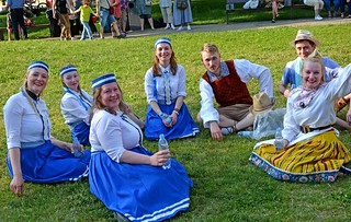 Lithuanian folk dance group
