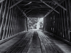 Inside the bridge (Tim Ravenscroft) Tags: coveredbridge interior inside structure monochrome blackwhite blackandwhite hasselblad hasselbladx1d x1d bridge