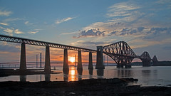 Sunset at South Queensferry. (Adrian Walker.) Tags: elements forth river sunset southqueensferry canon80d tamron