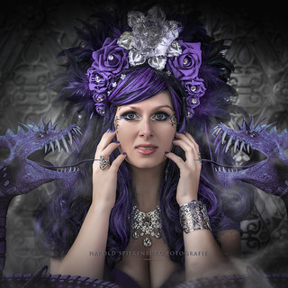 Mystic lady with the purple dragons
