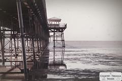 Southport pier (Country-trekker Images) Tags: southportpier incomingtide blackandwhite victorianstructure victorianshelter sefton merseyside seasidetown seasideresort