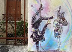 IMG_8281 C215 (WORLD OF FMR) Tags: stencil vitry pochoir art wall mur equilibre balance canon streetart
