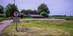 Gone . .  (May 2017) (Eduard van Bergen) Tags: abandoned home stable ancient old empty farm farming apron work life living cattle vee field meadow cows animals rural history house haus maison huis stal molenwaard alblasserwaard liesveld essenweg achterland wetering neighbour classic area suburban jong 7 silence agrarical agrarisch nederland dutch holland netherlands niederlande frau antje cheese milk käse milch butter outdoor bicycles radeln fietsen site bicycling place gone verschwunden zeitgeist demolished einder kim horizon trees veld weiland meadows