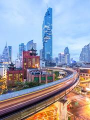 Road to Mahanakhon (Feng Image) Tags: mahanakhon skyscraper building bangkok thailand officetower olescheeren oma longexposure