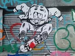 Skater (emilyD98) Tags: wall mur sticker collage streetart stnazaire insolite parc skate street art urban exploration city ville