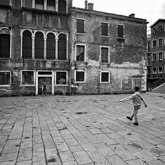Venice and football (stefanobiserni) Tags: tmax400 mamiya6 biserni venezia venice football calcio kids
