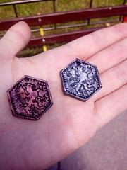 A new custom one - griffon pendant/coin (srejicd) Tags: polymer clay viking copper silver sale dnd dungeons custom symbol griffon griffin pendant coin