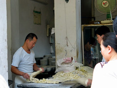 noodle making - Xi'an, China 2 (Russell Scott Images) Tags: streetscenes xian china russellscottimages