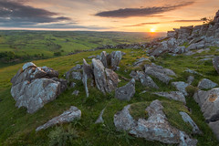 Wolfscote Dale Hill Sunset