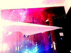 An airplane in a cold and long infinite galaxy (jawharamedina) Tags: galaxy airplane paperplane plane paperairplane