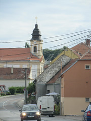 Houses and St. George Church, street in Klentnice, Czechia (Paul McClure DC) Tags: moravia morava czechia czechrepublic aug2016 chkopálava church architecture historic jihomoravskýkraj břeclav