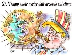 """TrumpG7 (Moise-Creativo Galattico) Tags: editoriali moise moiseditoriali """"editorialiafumetti"""" giornalismo attualità satira vignette trump g7 clima"""