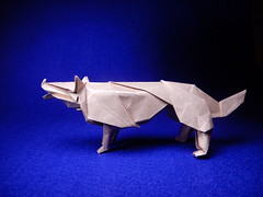 Wolf designed by Hideo Komatsu (ayako kobayashi) Tags: origami wolf hideokomatsu