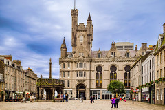 The Castle on the Castle street (saromon1989) Tags: aberdeen scotland summer castle structure architecture holiday vacation landscape urban panorama colourful