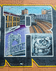 """The R"" Detail of the ""I Love The Bronx"" Mural, Foxhurst, New York City (jag9889) Tags: 2017 20170608 allamericacity bg183 bio bronx detail elevatedtracks foxhurst graffiti graffitiartist how love mta metropolitantransportationauthority mural muralist nosm ny nyc newyork newyorkcity nicer outdoor painting parkavenuebridge simpsonstreet streetart subway tagging tatscru thebronx themuralkings usa unitedstates unitedstatesofamerica wall jag9889"