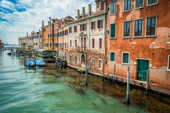 City Street - Venice Style (JDWCurtis) Tags: venezia venice italy river boat boats water waterfront waterway riverfront city cityscape citystreet colours holiday lone lonetraveller traveller