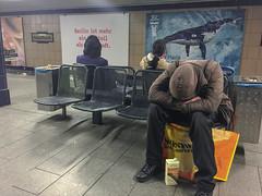 Berlin is more. Rathaus Neukölln U-Bahn, April 2017. (joelschalit) Tags: berlin germany karlmarxstrase neukölln deutschland homeless poverty inequality signs advertizing iphone6 iphone