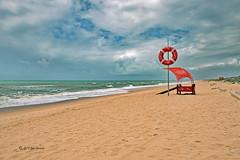 Ready (Thank you for 3 Million views) Tags: beach algarve portugal ocean atlantic joeinpenticton lifeguard life guard ring tube tower float faro jose joe garcia roadtrip road trip