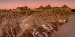 the  glory of the desert (donnnnnny) Tags: australia nsw west eroded landscape dawn clay sand desert