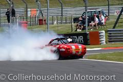 Bernie V8 - R2 (27) Dave Stewart spins in cloud of smoke (Collierhousehold_Motorsport) Tags: berniev8 americanmuscle 750 mgbgt v8s ford pontiac tvr sunbeam ascar speedfest brandshatch chevrolet astonmartin shelbycobra