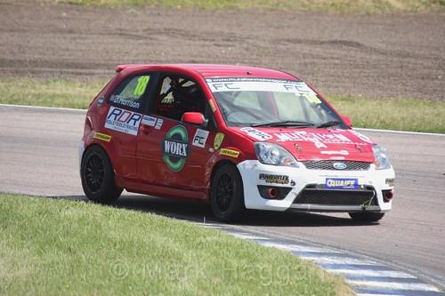 Danny Harrison in the Fiesta championship Class C at Rockingham, June 2017