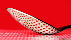 dotty mcspoon (kevin towler) Tags: spoon dots stilllife single red macro closeup cutlery