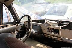 Tatra T603 interior (MilanWH) Tags: autovrakoviště scrapyard czech rust épave tatra t603 interior