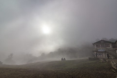 Village in Cloud (Kyi Cho) Tags: nepal kumbu tengboche